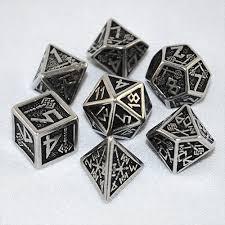 Set Dados Enanos Metal