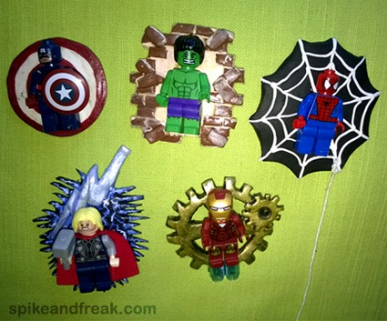 Broches Superheroes