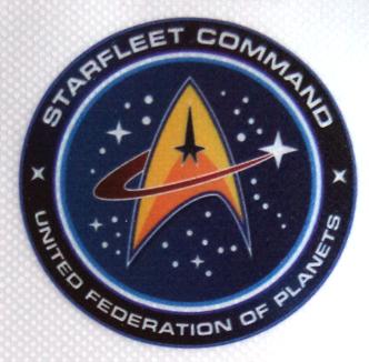 Pegatina de vinilo transparente Star Trek