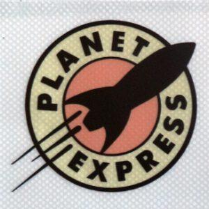 Pegatina de vinilo transparente Planet Express