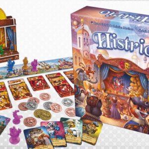Histrio caja y contenido del juego