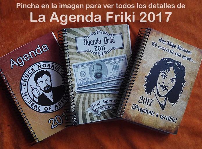 Agenda Friki 2017 distintos modelos
