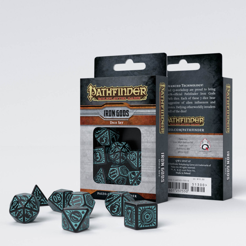 Caja set dados Iron Gods Pathfinder
