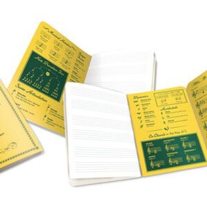 Cuaderno de Música-Music Notebook abierto en varias páginas