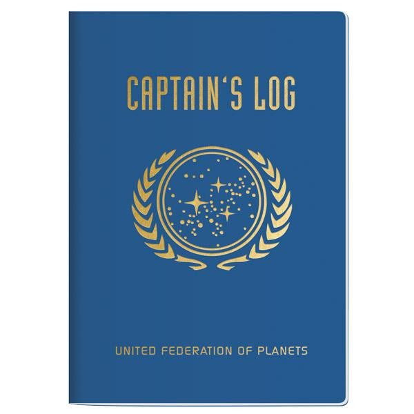 Cuaderno Star Trek Captain's Log Notebook