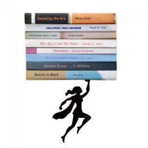 Wondershelf - Estantería Flotante puesto en pared con libros encima