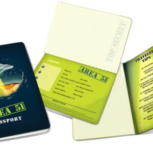 Cuaderno Area 51 Passport Notebook abierto