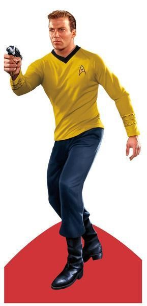 Star Trek set de tarjetas personalizables con pegatinas detalle: Kirk