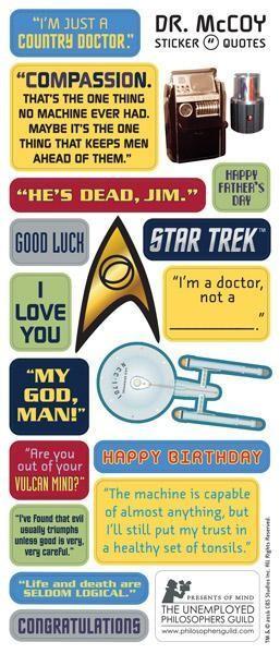 Star Trek set de tarjetas personalizables con pegatinas