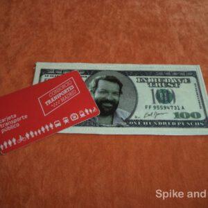 Funda para Tarjeta Transporte Bud Spencer sugerencia de uso: para un abono transporte contacless