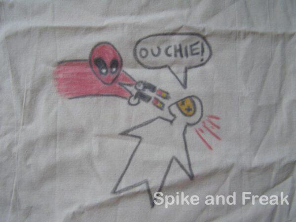 Bolsa de Algodón pintada Deadpool