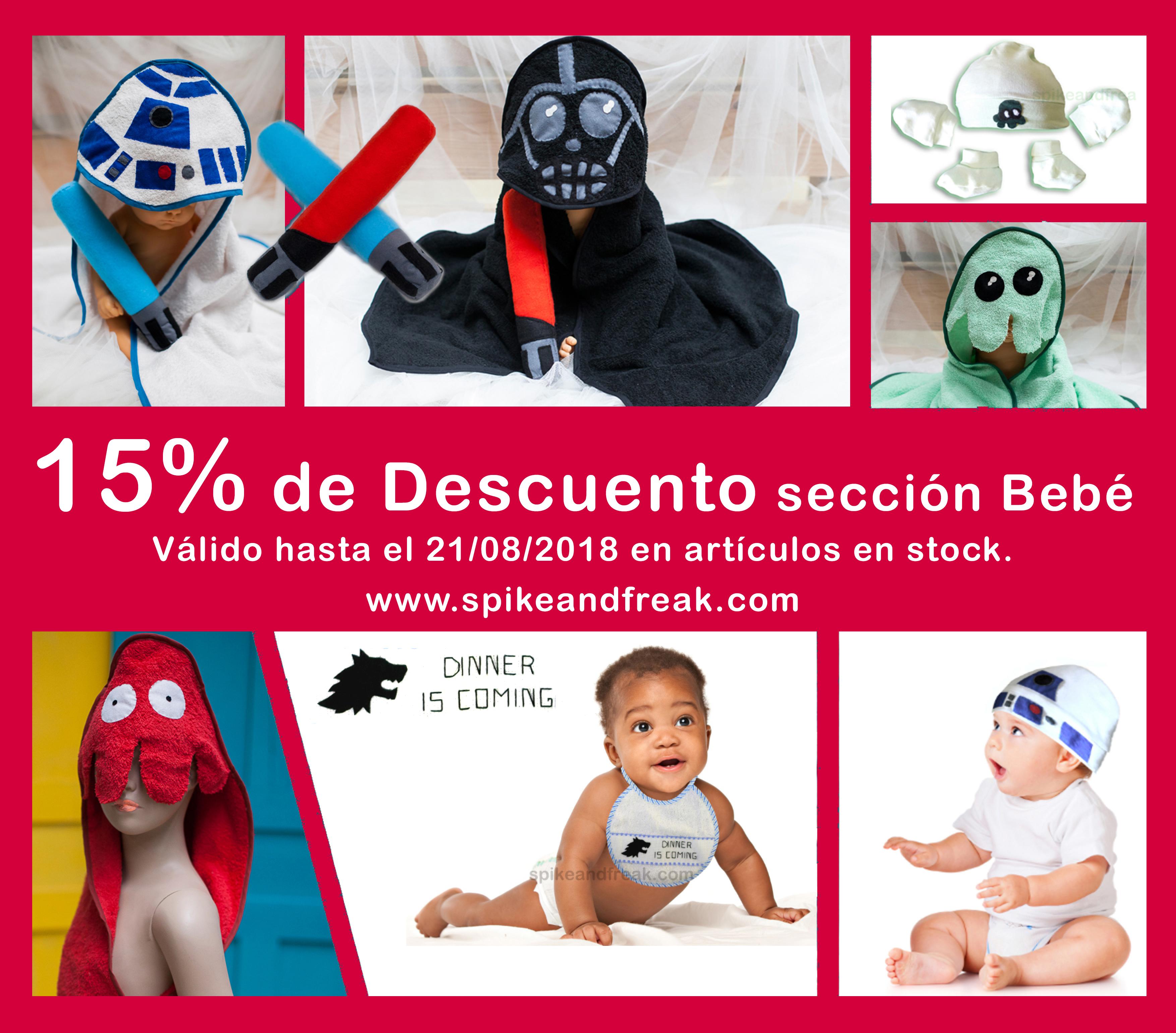 Productos de bebé al 15% de descuento
