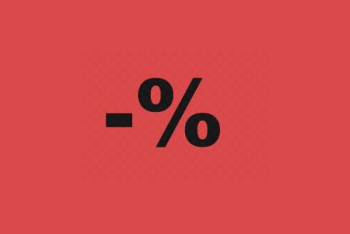 símbolo oferta porcentaje