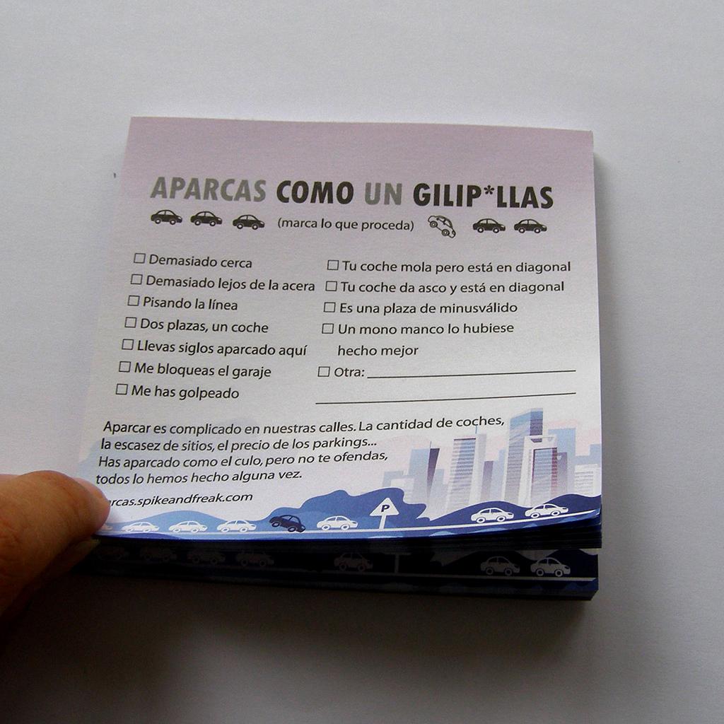 Block Aparcas como un Gilipollas