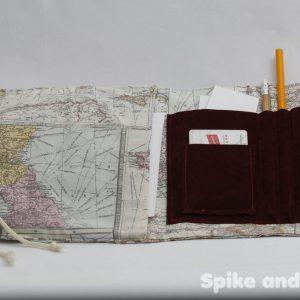 bolsa multiusos mapamundi abierta