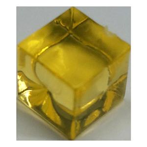cubo transparente amarillo
