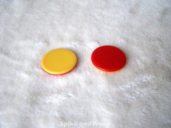 Fichas bicolor rojo amarillo