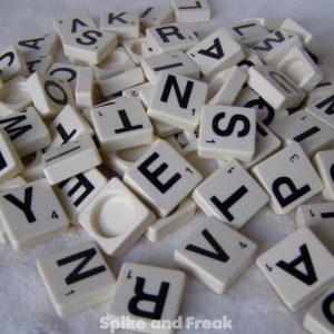 Fichas letras scrabble
