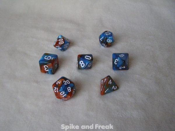 Set de Dados Elemental Azul-Cobre