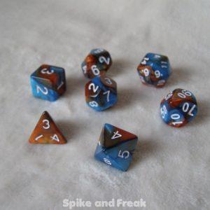 RPG Elemental Dice Set Blue Cooper