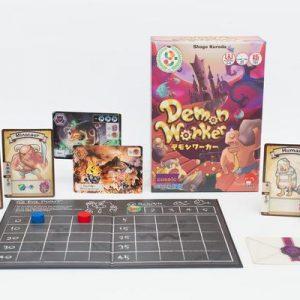 Demon Worker caja y componentes del juego