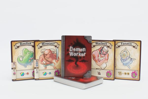 Demon Worker detalles de cartas