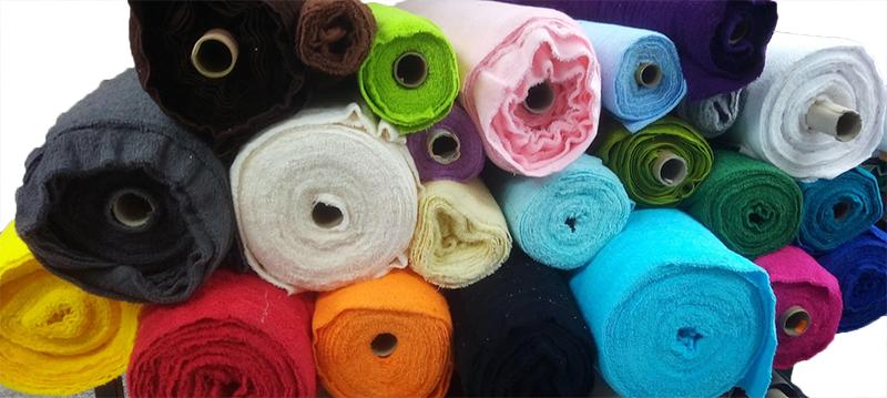 Colores de telas disponibles para las toallas
