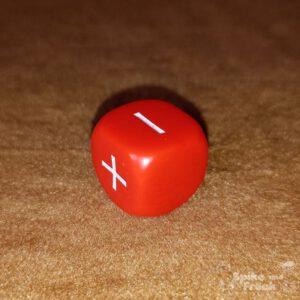 Dado Fudge fate básico rojo