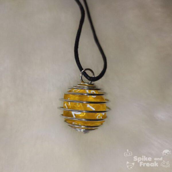 Dado espiral grande amarillo