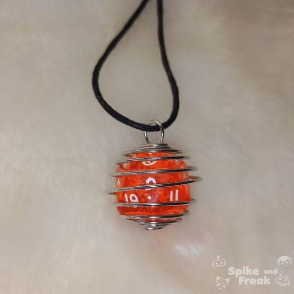 Dado espiral grande naranja