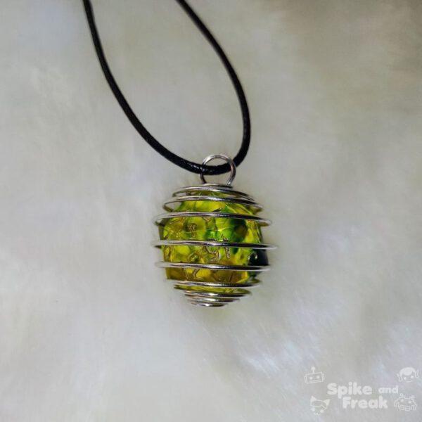 Dado espiral grande verde amarillo