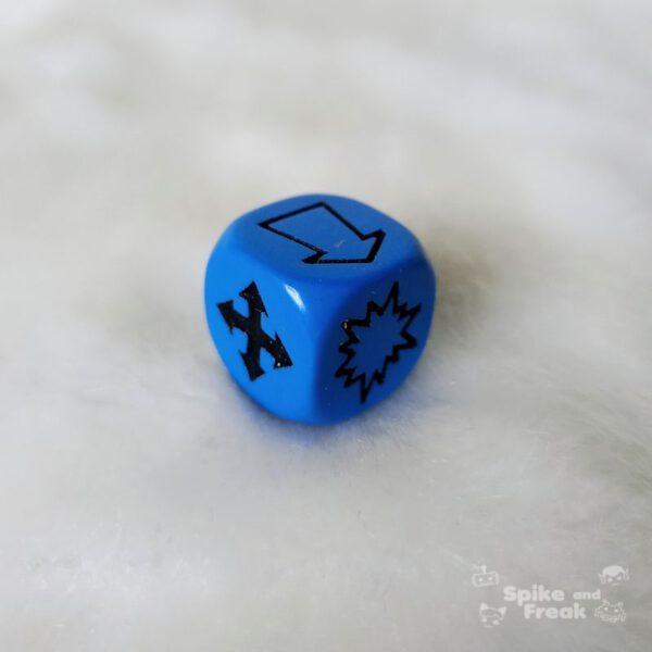 Dado Dispersión azul