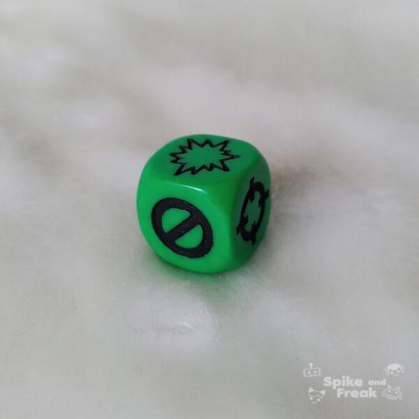 Dado Dispersión verde