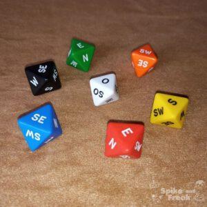 D8 caras puntos cardinales - varios colores