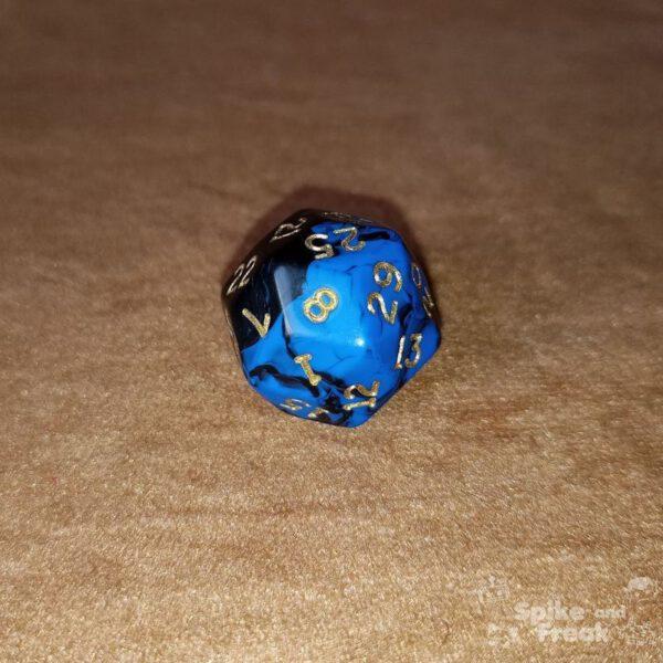 Dado D30 azul-negro