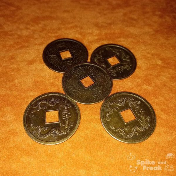 5 Monedas chinas grandes