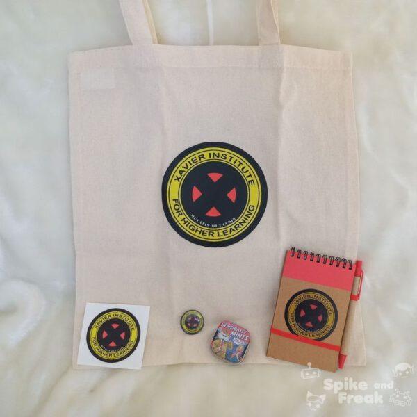 Pack Xmen: bolsa, pegatina, cuaderno,cajita de pastillas, imánn