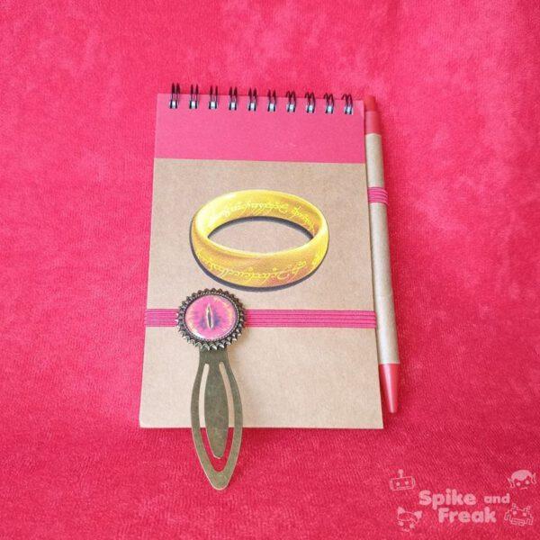 Cuaderno y marcapáginas señor de los anillos