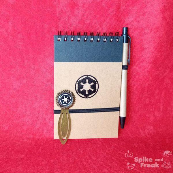 Cuaderno y marcapáginas star wars imperio