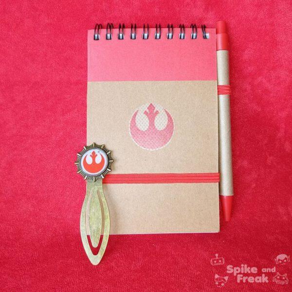 Cuaderno y marcapáginas star wars rebellion