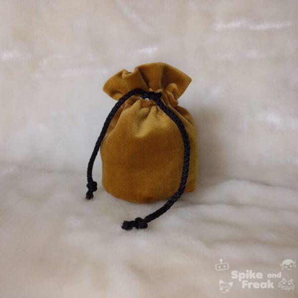 bolsa de dados pequeño dorado