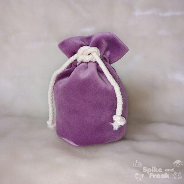 bolsa de dados pequeño lila