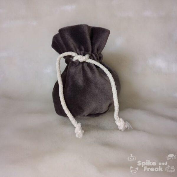 bolsa de dados pequeño gris