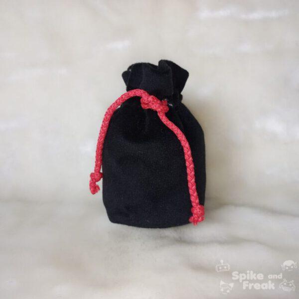 bolsa de dados pequeño negro