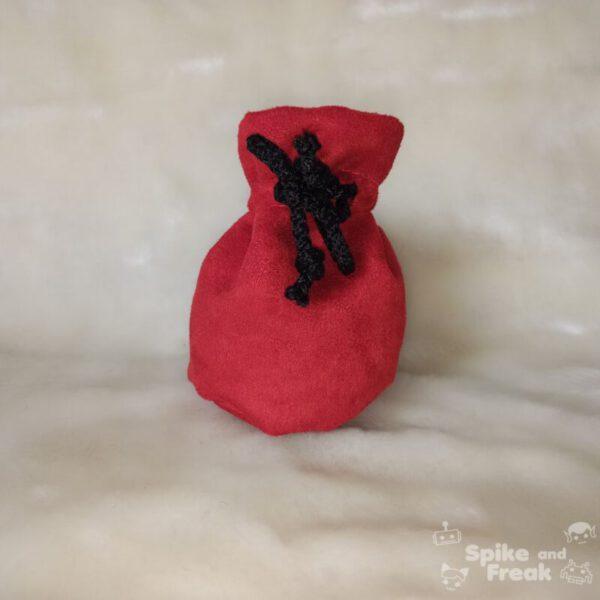 bolsa de dados pequeño rojo