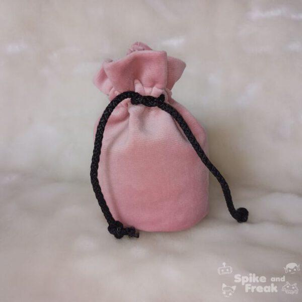 bolsa de dados pequeño rosa