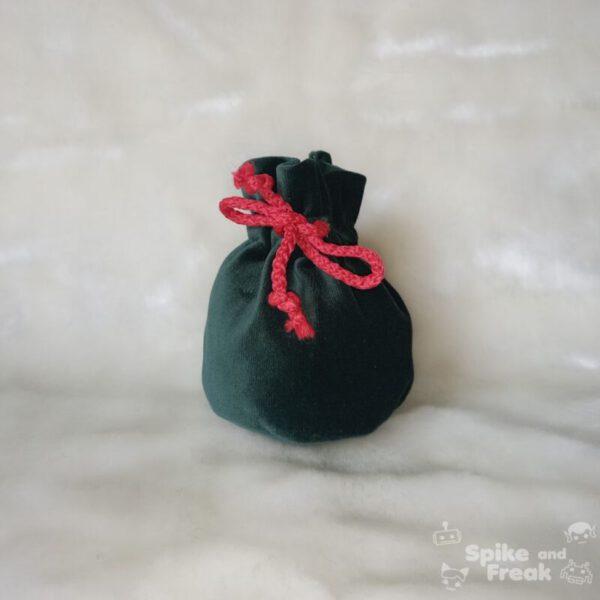 bolsa de dados pequeño verde