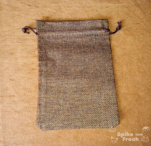 saco plano rafia marrón