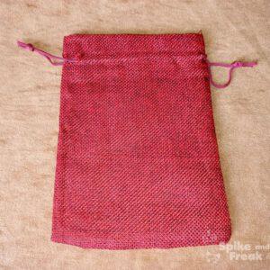 saco plano rafia rojo