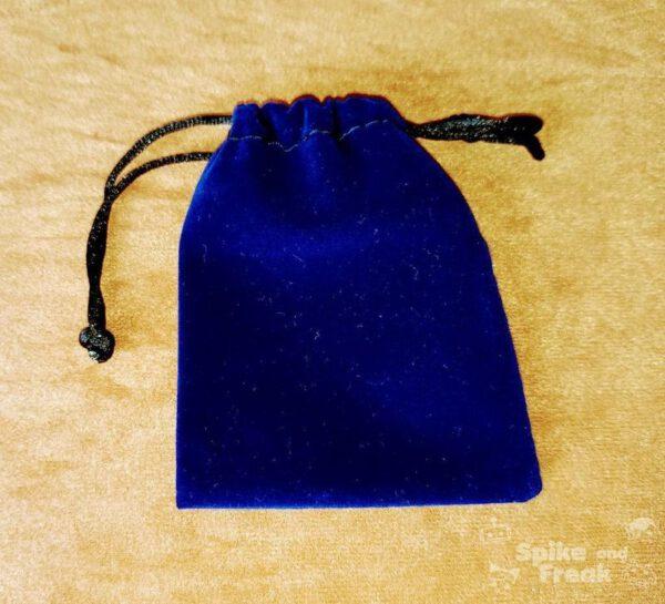 saco plano terciopelo azul